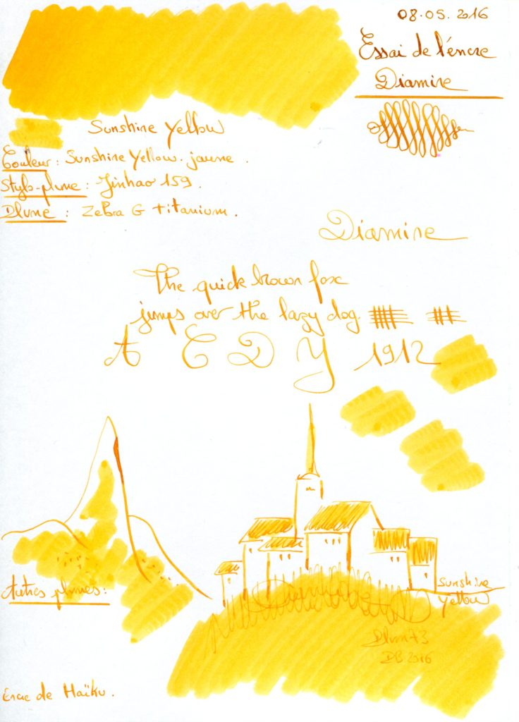 Sunshine Yellow Ink Diamine