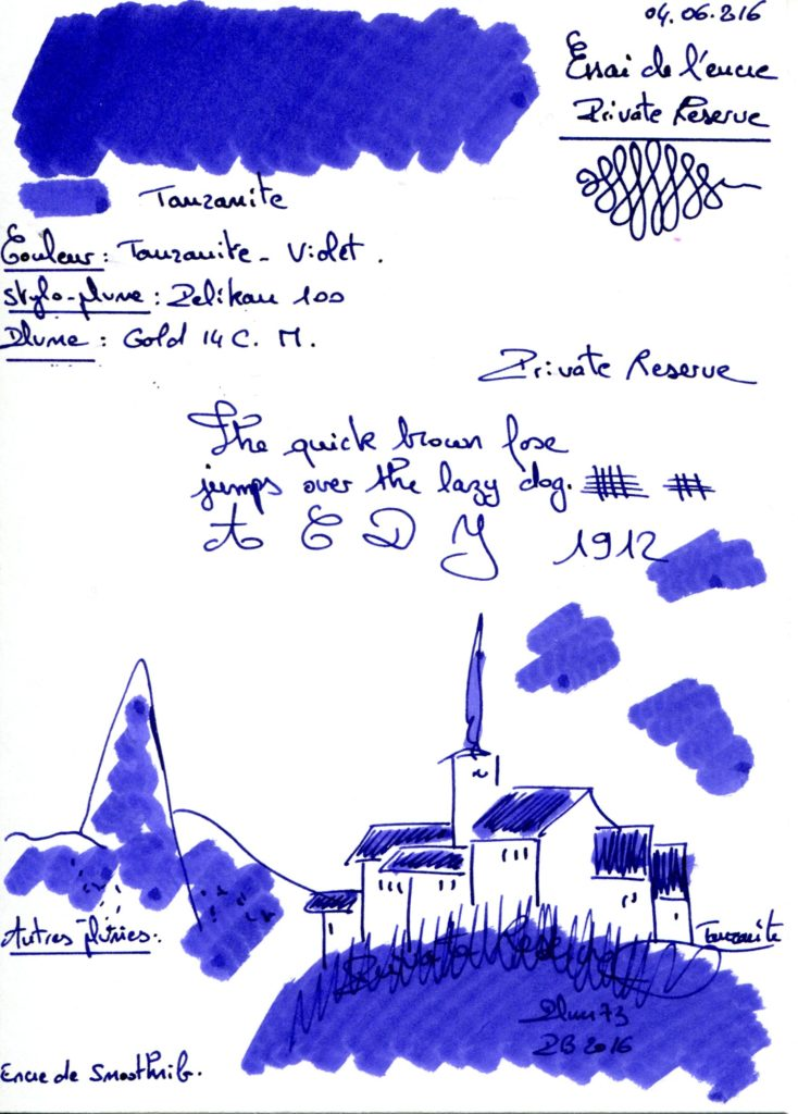 Tanzanite Ink Private reserve