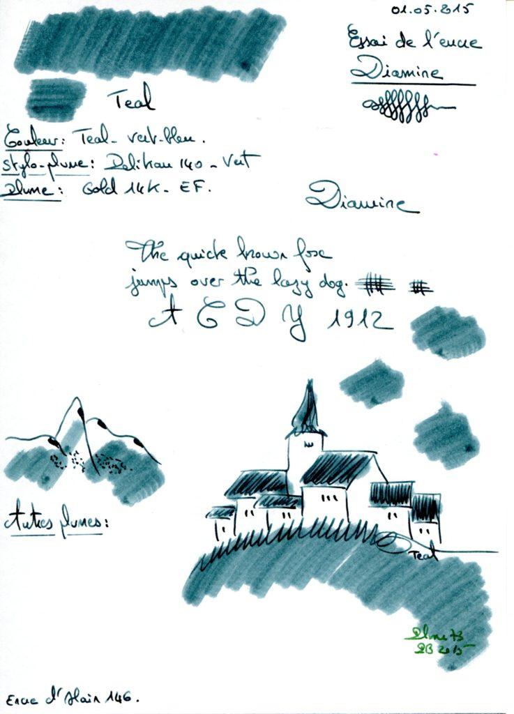 Teal Ink Diamine