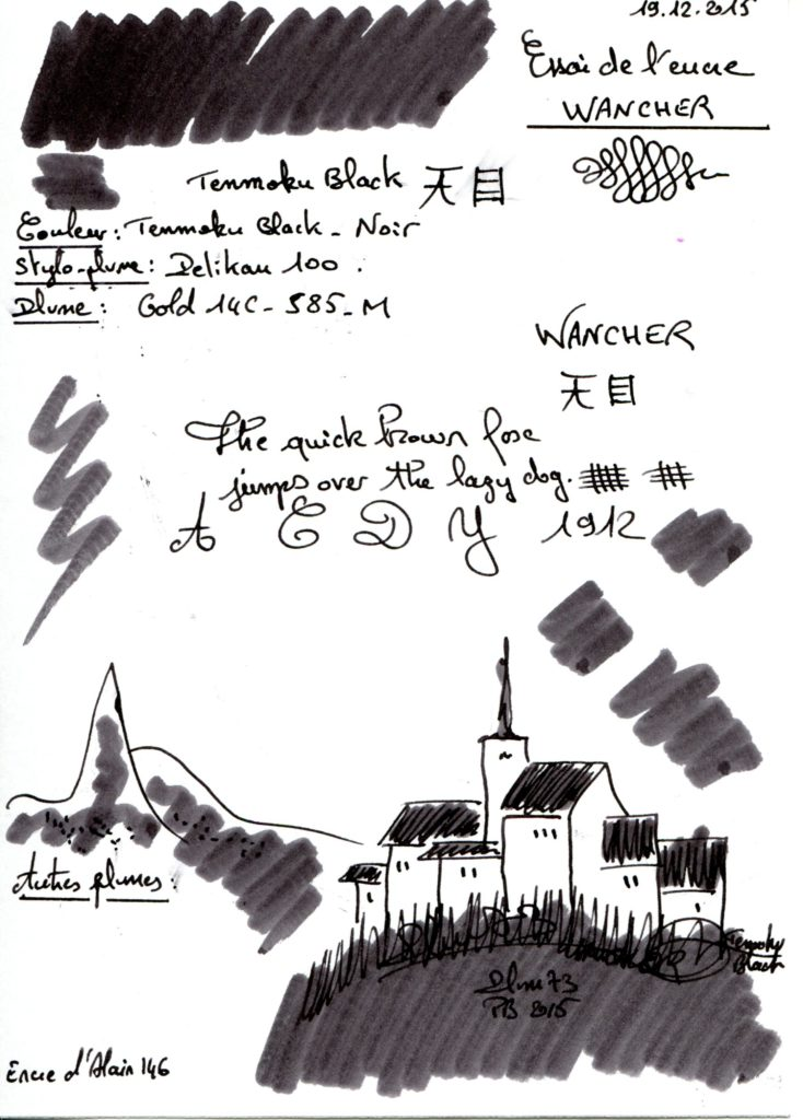 Tenmoku black Ink Wancher