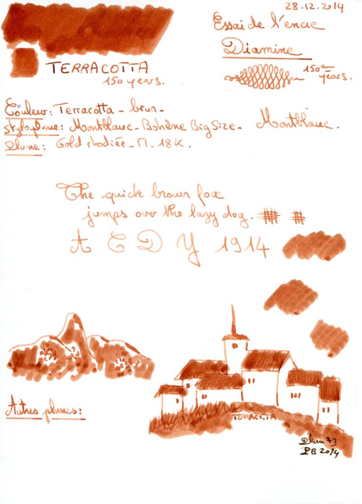 Terracotta Ink Diamine 150 years