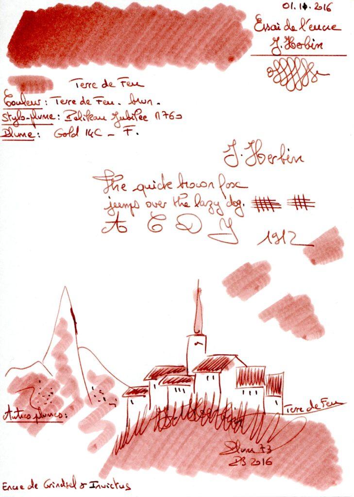 Terre de feu Ink J Herbin