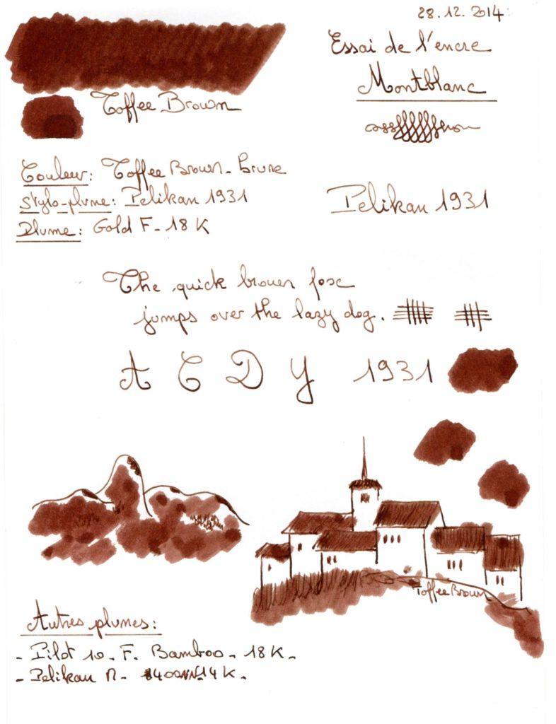 Toffee brown Ink Montblanc