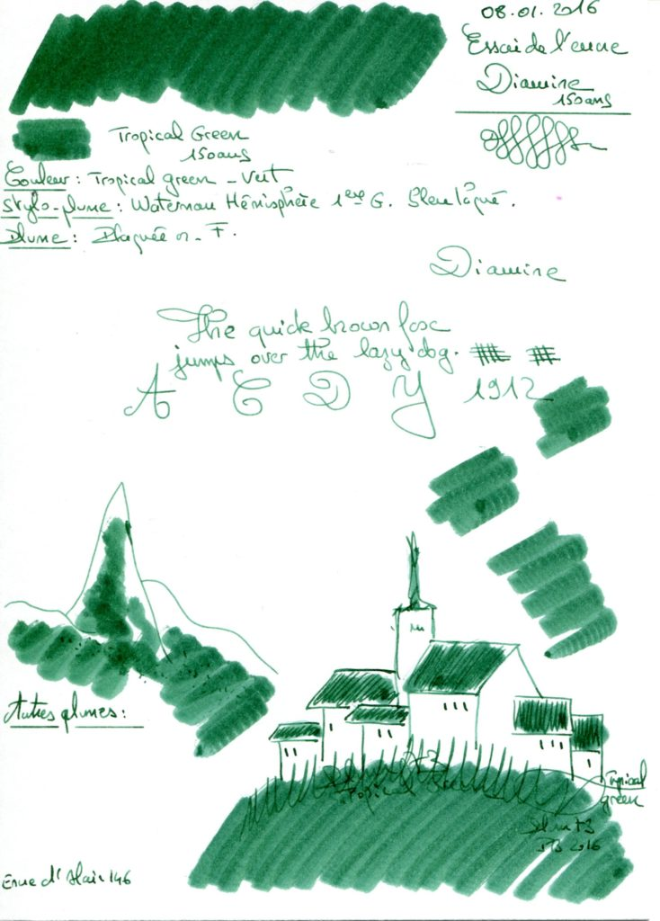 Tropical Green Ink Diamine 150