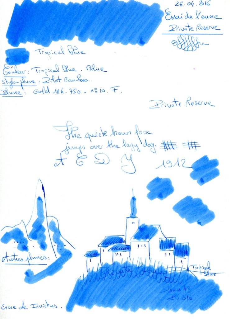Tropical blue Ink Private reserve