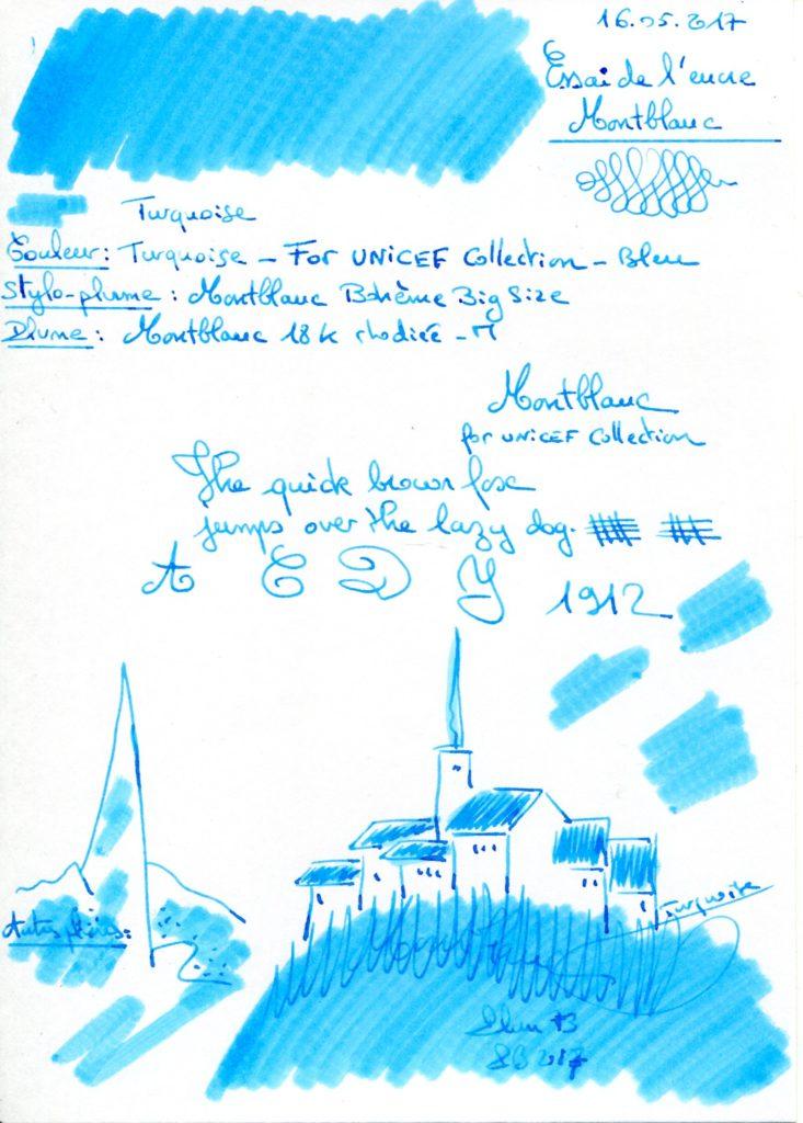 Turquoise Unicef Ink Montblanc