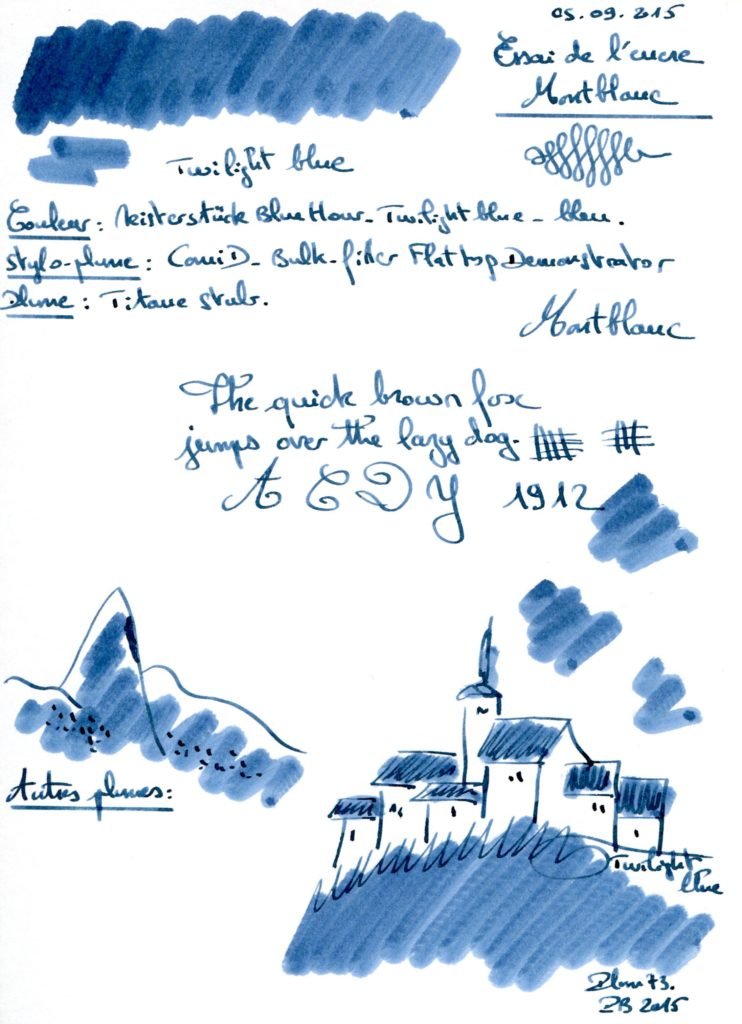 Twilight blue Ink Montblanc