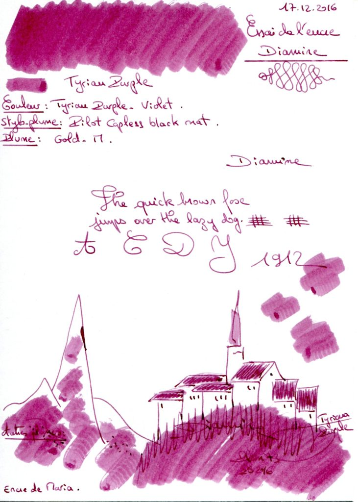 Tyrian Purple Ink Diamine