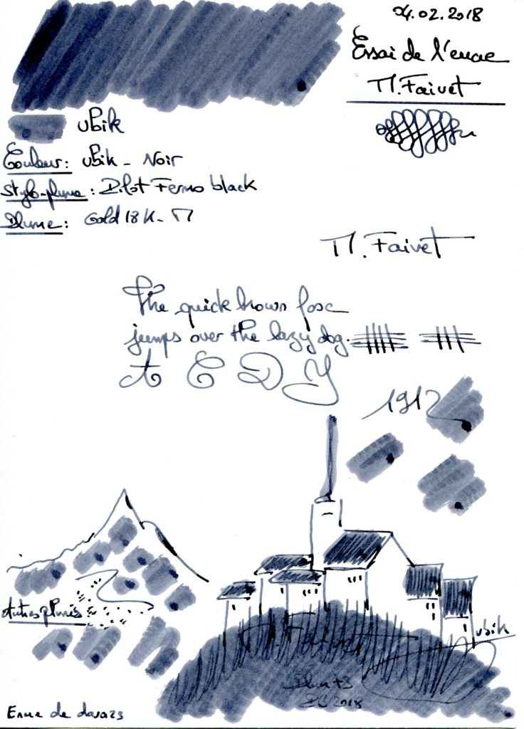 Ubik M Faivet Ink Callifolio