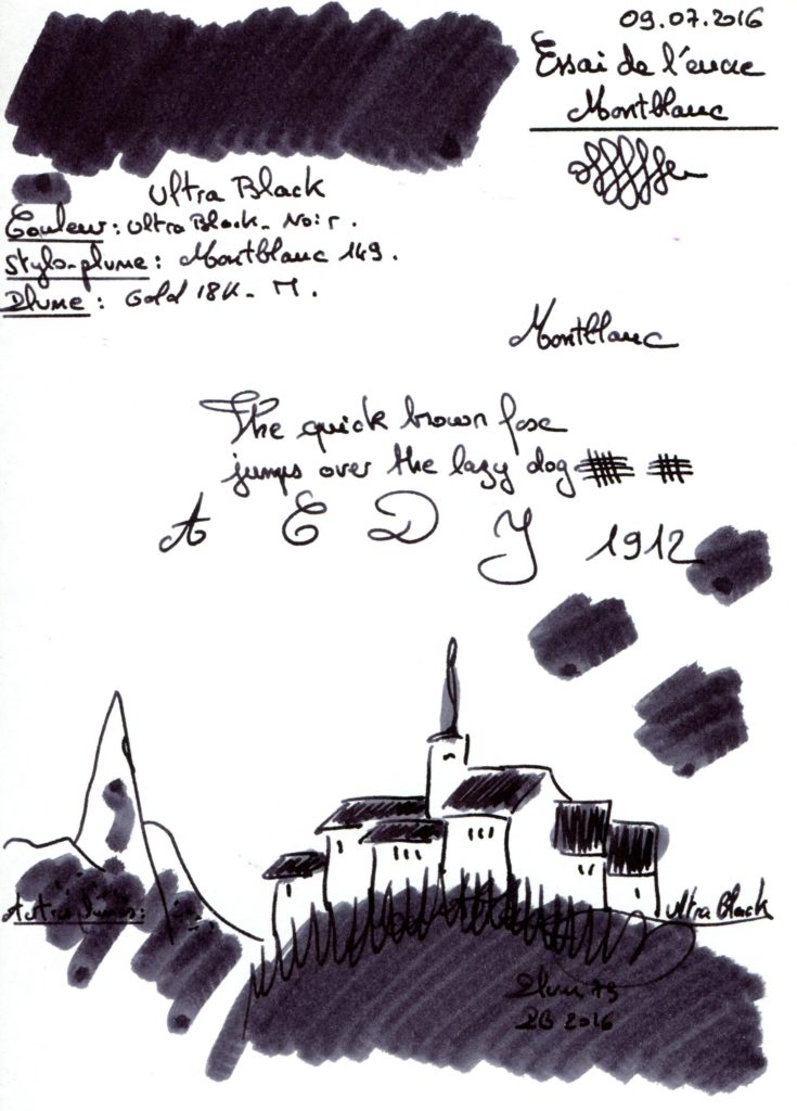 Ultra Black Ink Montblanc