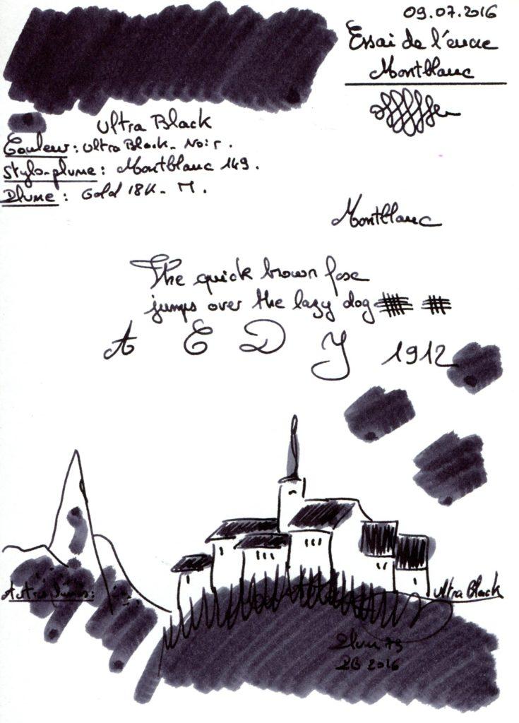 Ultra Black Ink Montblanc