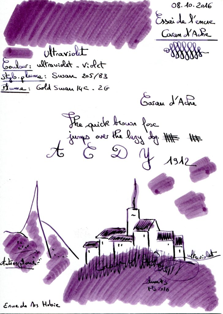 Ultraviolet Ink Caran d Ache