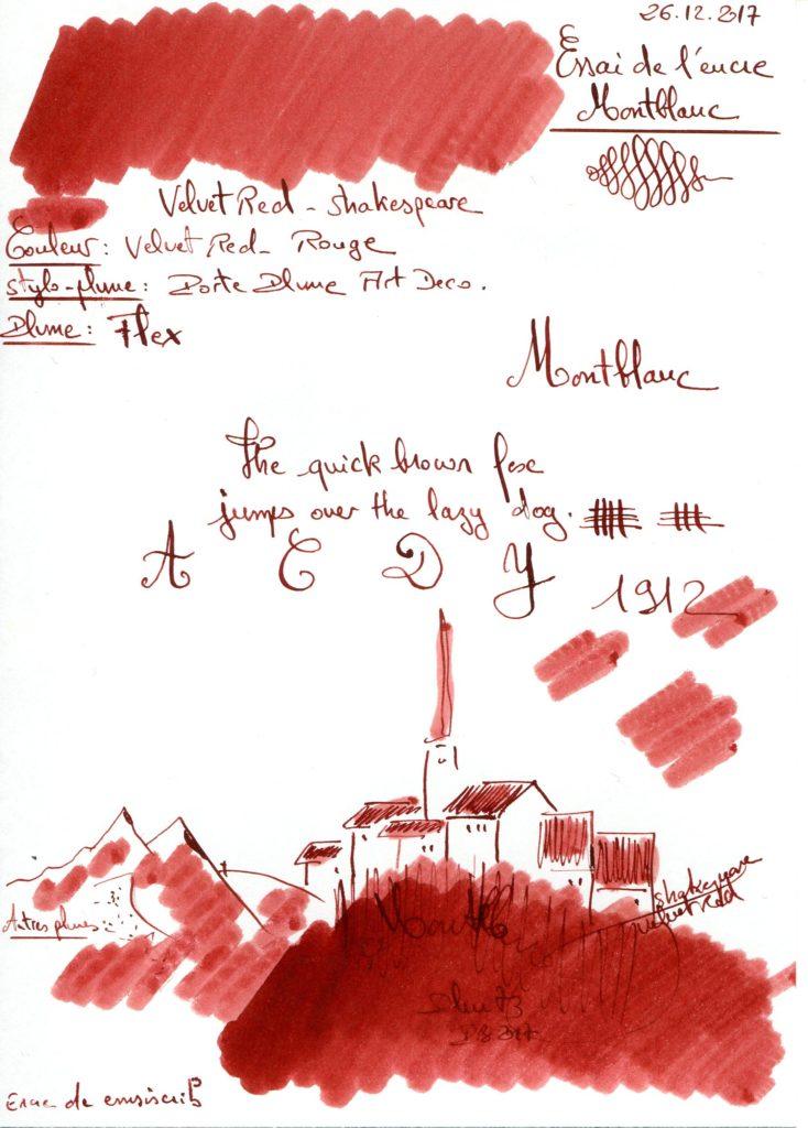 Velvet Red Ink Montblanc
