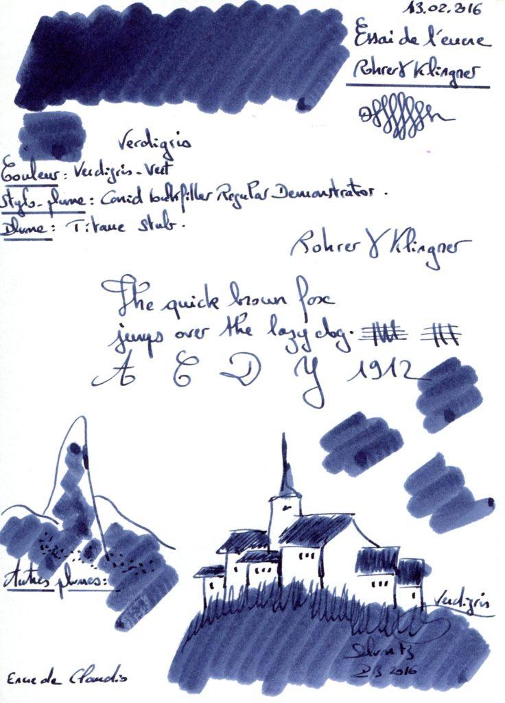 Verdigris Ink rohrer & klingner 001