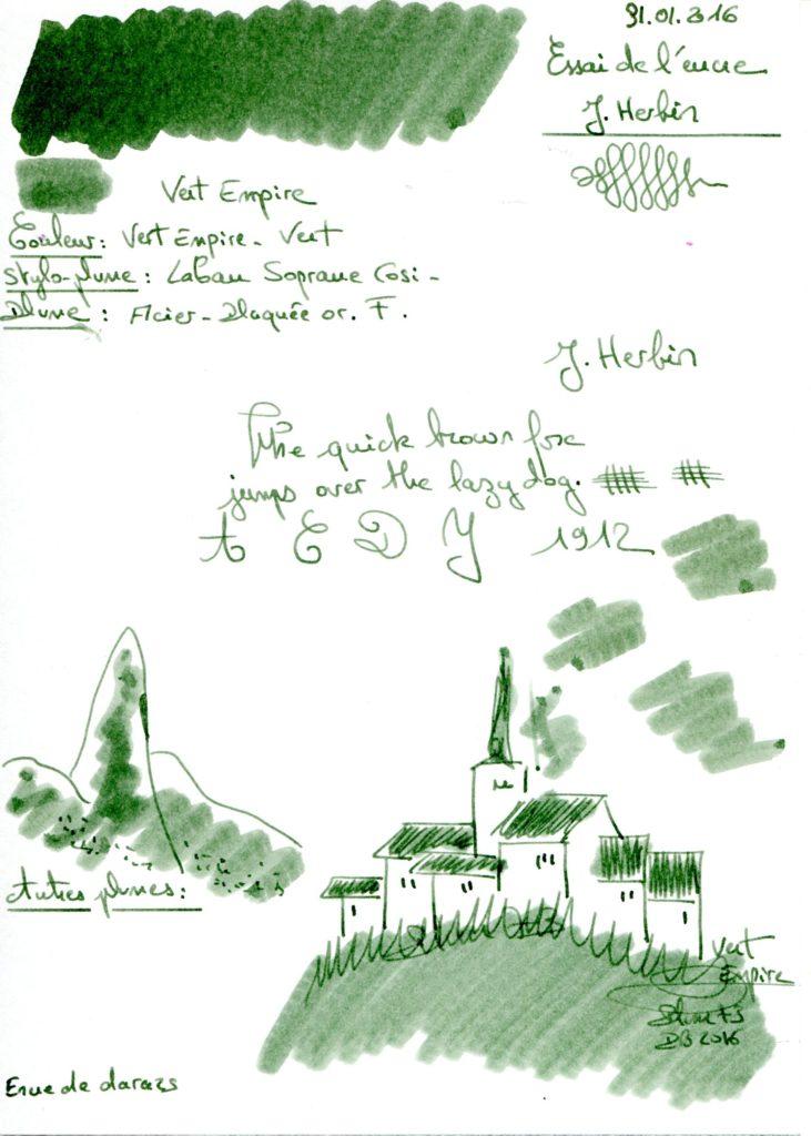 Vert Empire Ink J Herbin