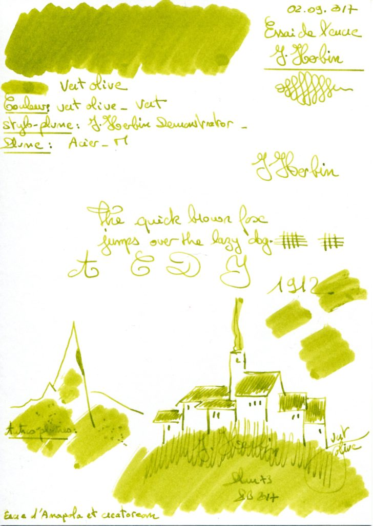 Vert Olive Ink J Herbin