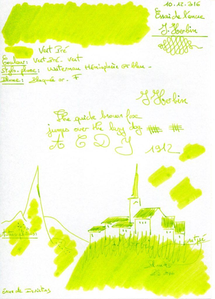 Vert Pré Ink J Herbin