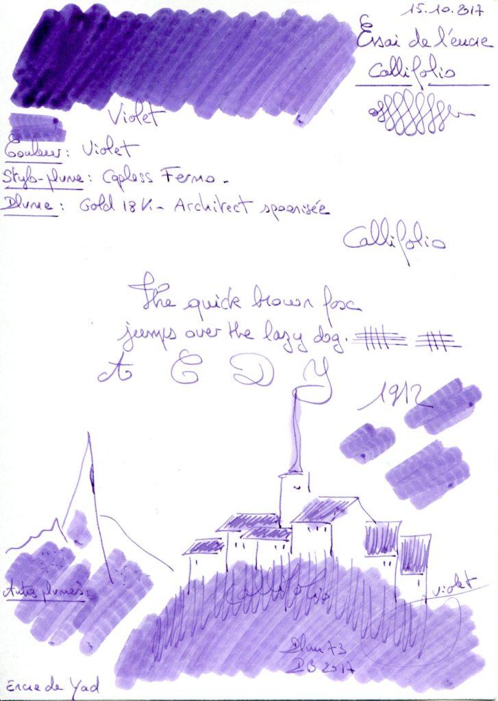 Violet Ink Callifolio