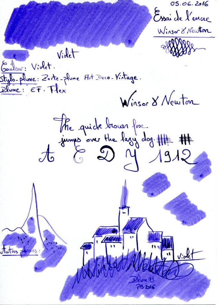 Violet Ink Winsor et Newton