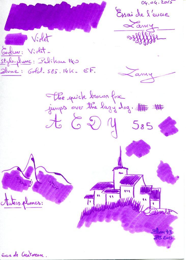Violet ink Lamy