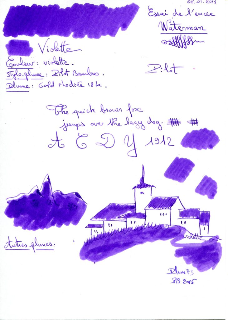 Violette Ink Waterman
