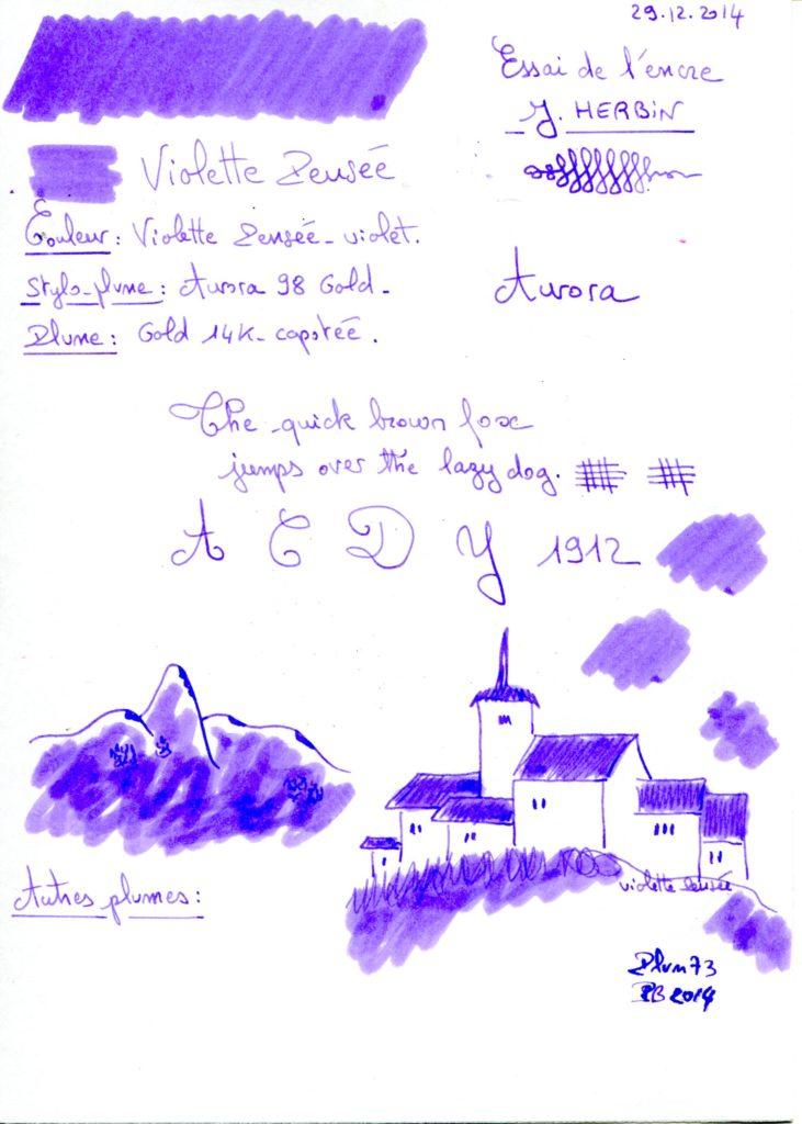 Violette pensee ink J Herbin
