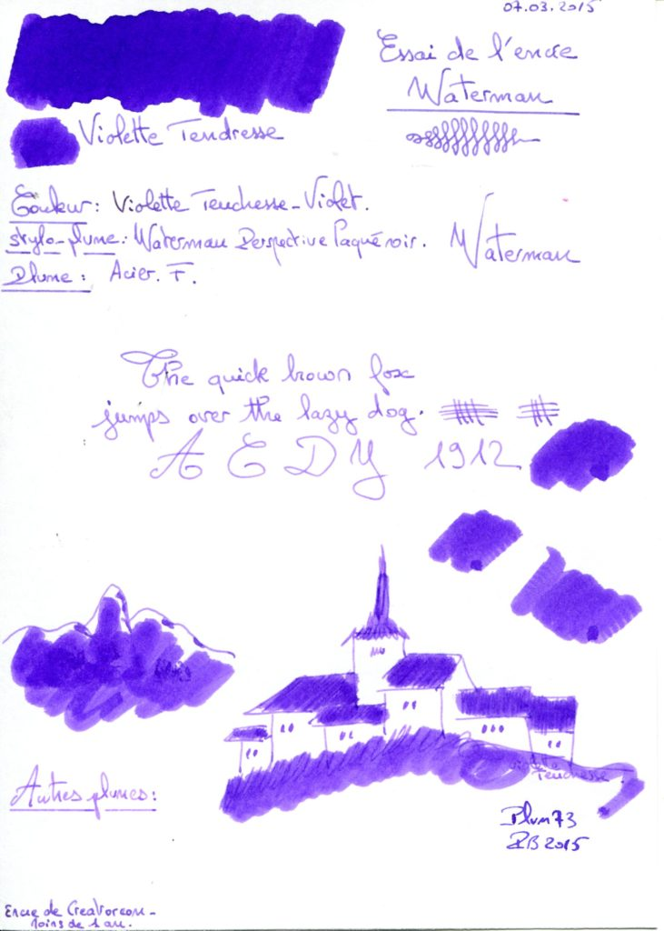 Violette tendresse Ink Waterman