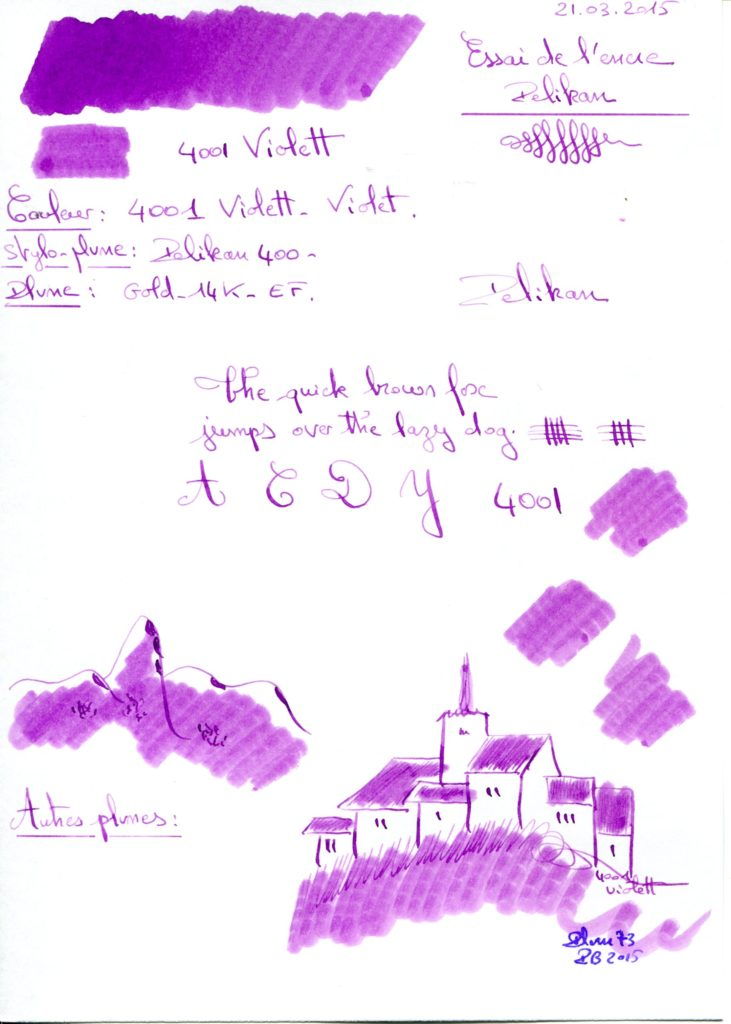 violet Ink Pelikan