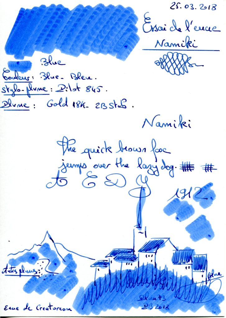 Blue Ink Namiki