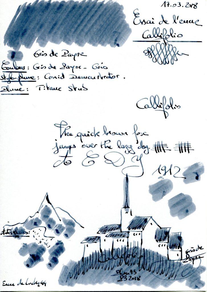 Gris de Payne Ink Callifolio