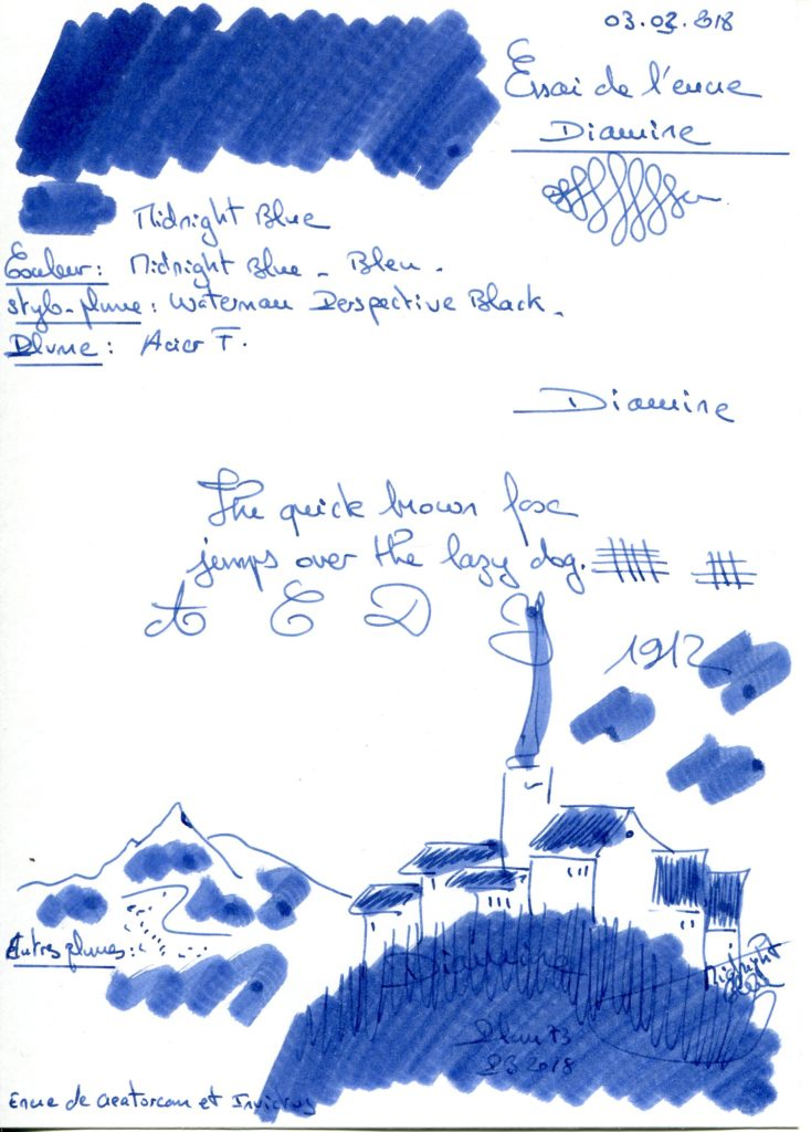 Midnight Blue Ink Diamine