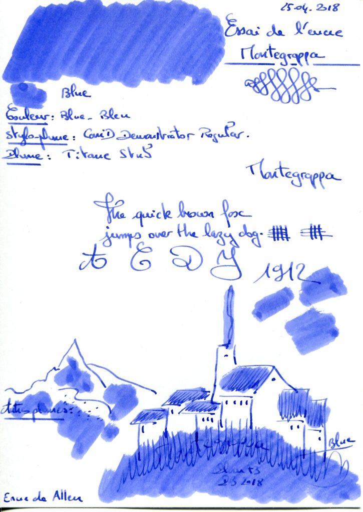Blue Ink Montegrappa