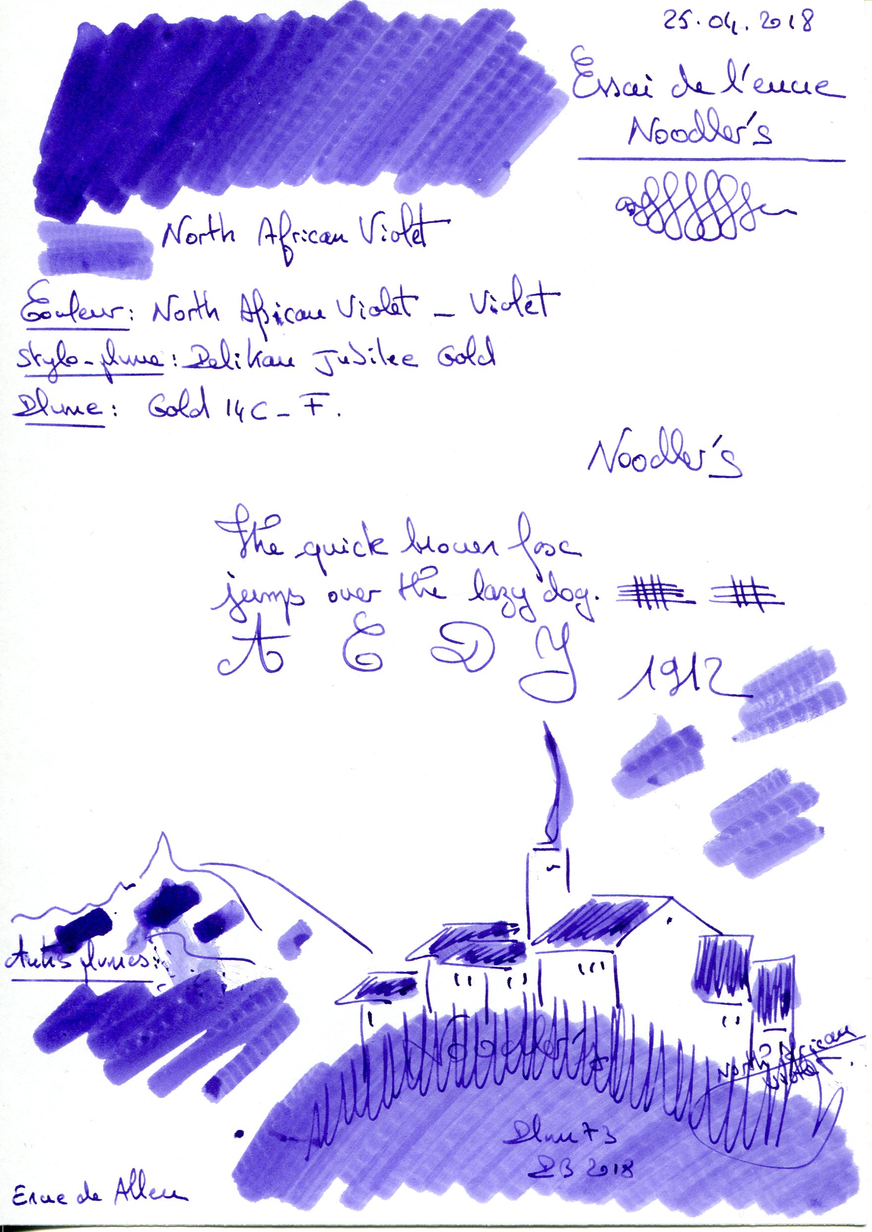 North African Violet Ink Noodlers