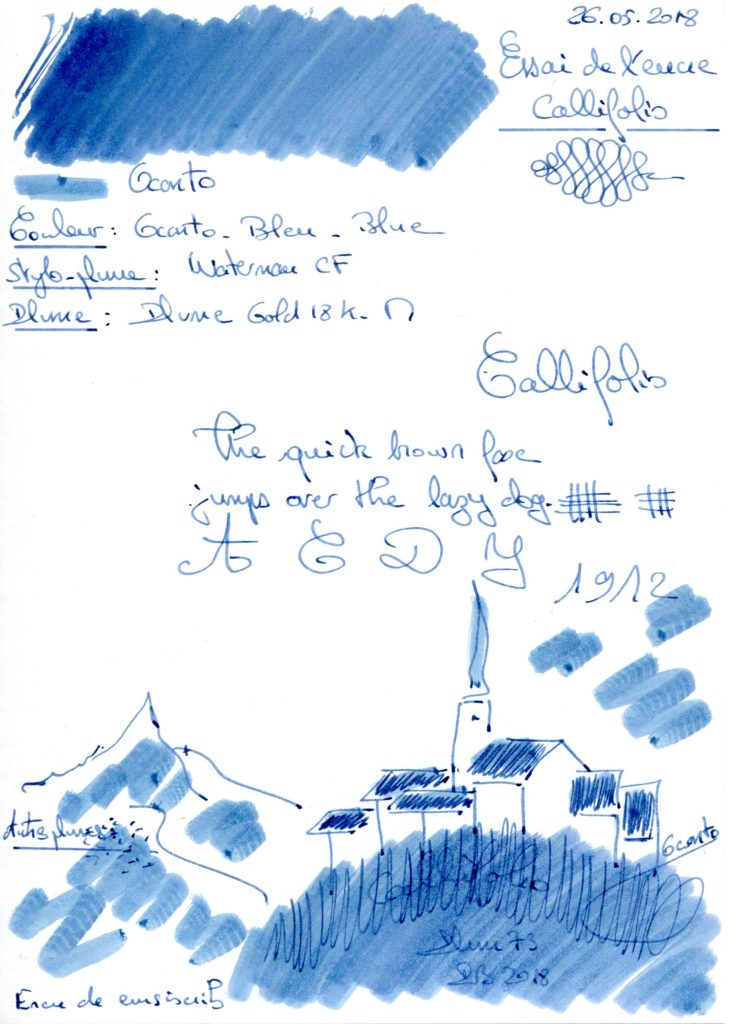 Oconto Ink Callifolio