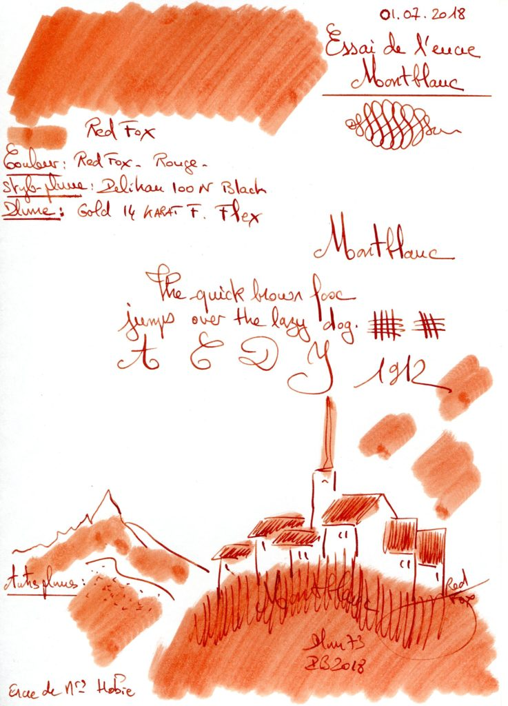 Red Fox Ink Montblanc