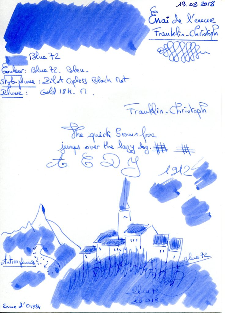 Blue 72 Ink Franklin Christoph