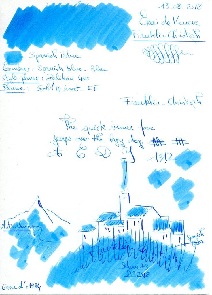 Spanish Blue Ink Franklin Christoph