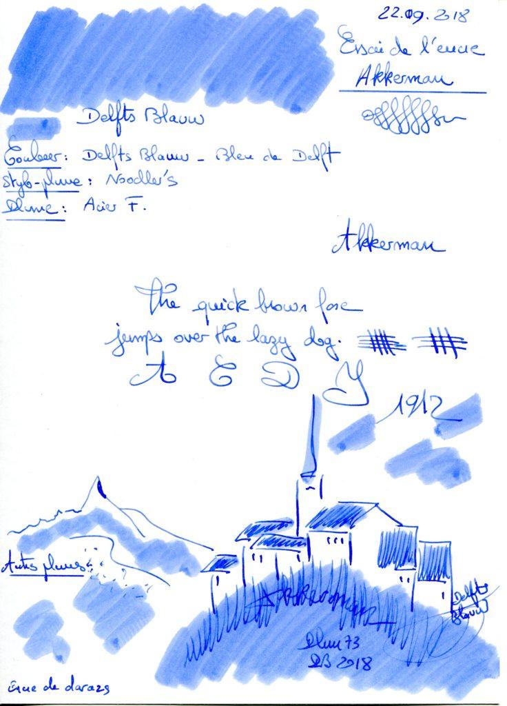 Delfts Blauw Ink Akkerman