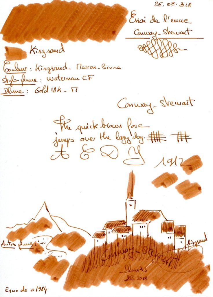 Kingsand Ink Conway Stewart