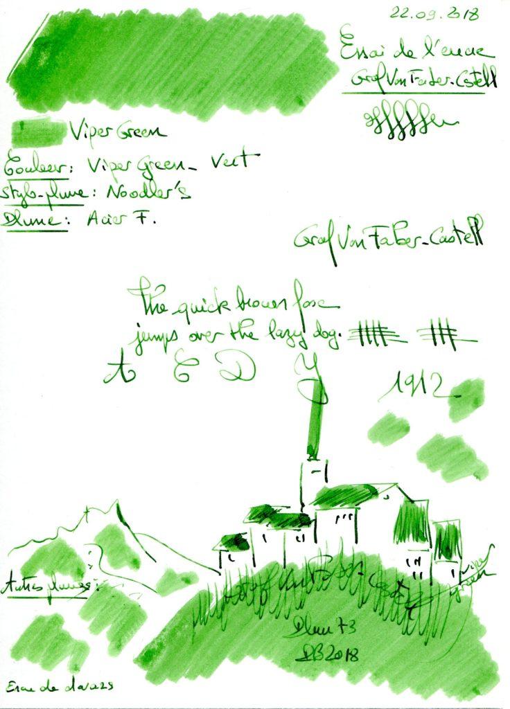 Viper Green Ink Graf Von Faber Castell