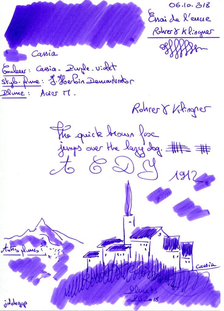 Cassia Ink Rohrer Klingner