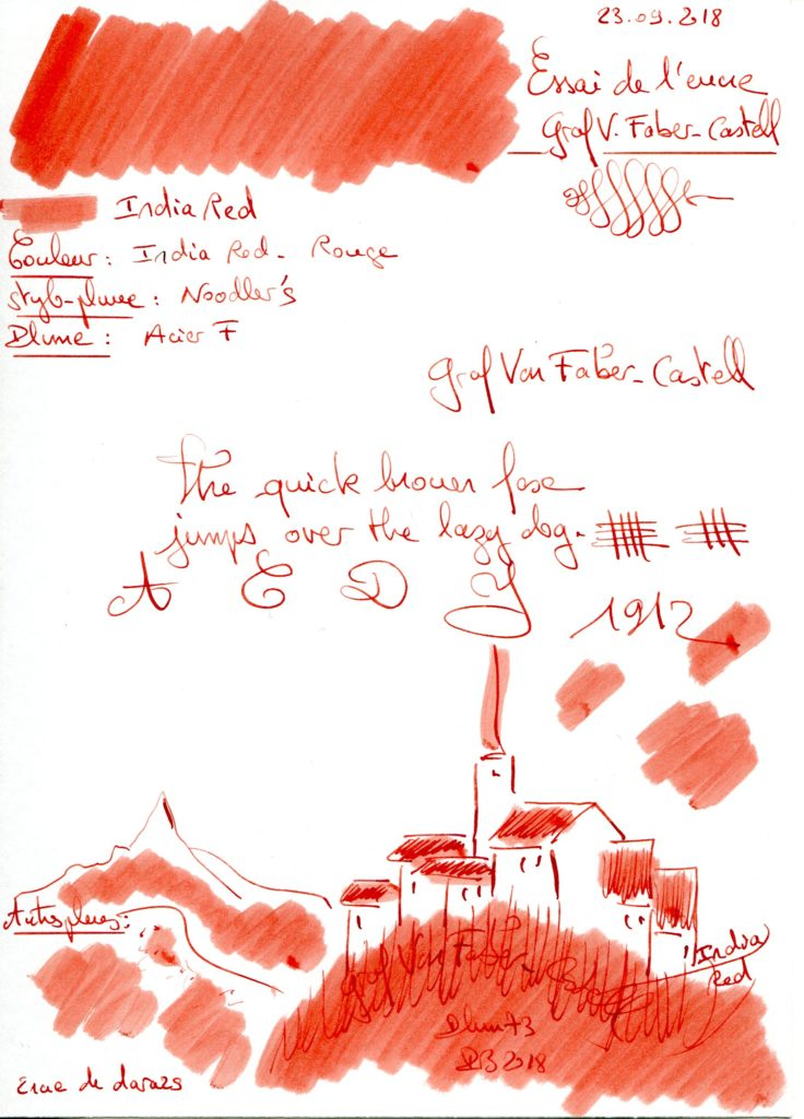 India red Ink Graf Von Faber Castell