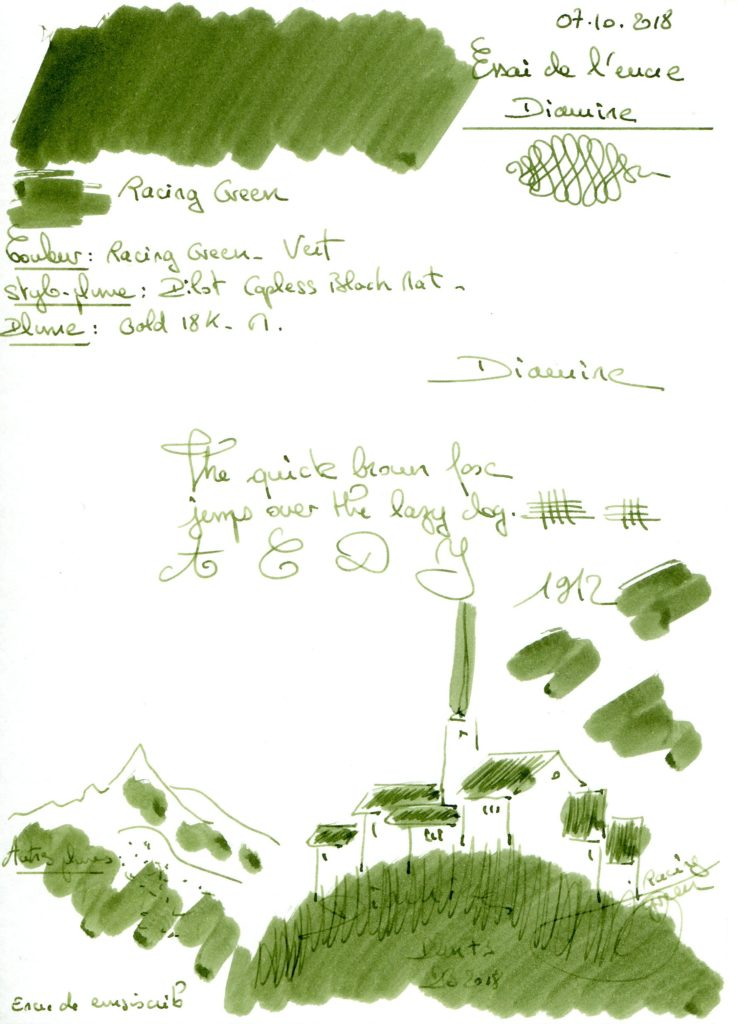 Racing Green Ink Diamine