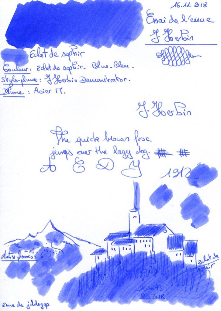 Eclat de saphir Ink J.Herbin