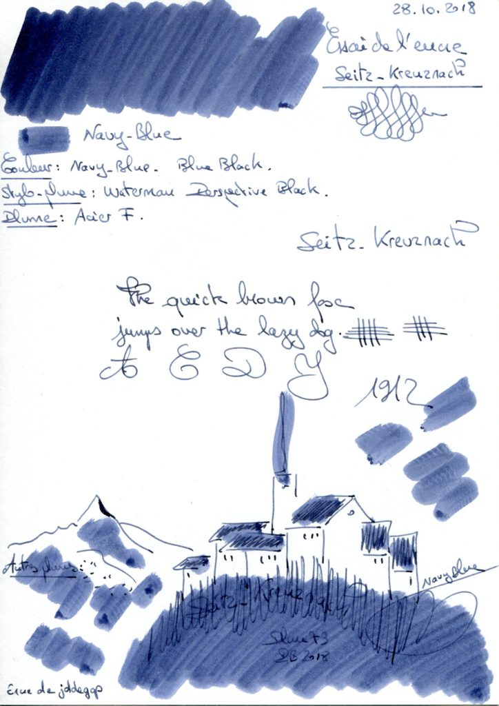 Navy Blue Ink Seitz Kreuznach