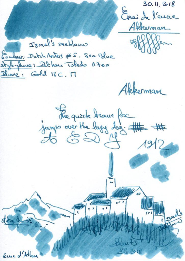Israel's zeeblauw D Masters #5 Ink Akkerman