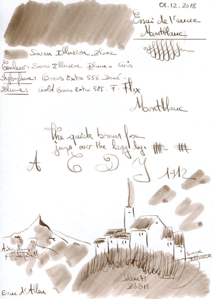 Swan Illusion Ink Montblanc