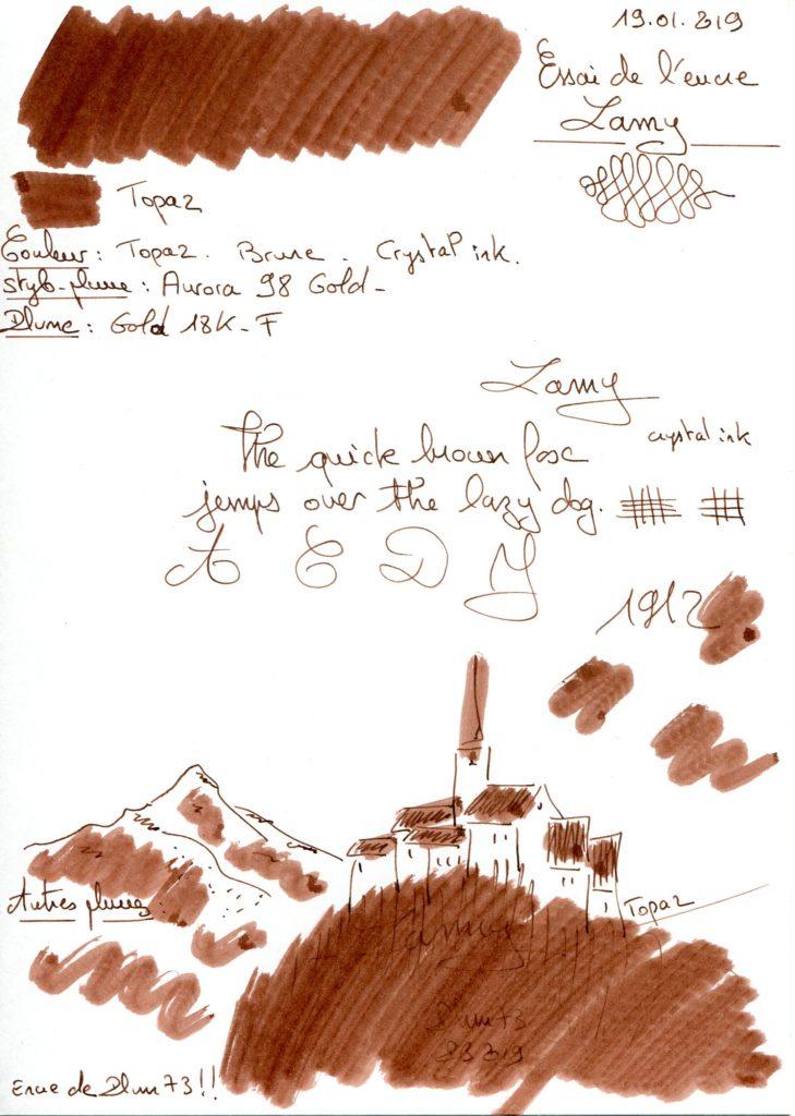 Topaz Ink Lamy