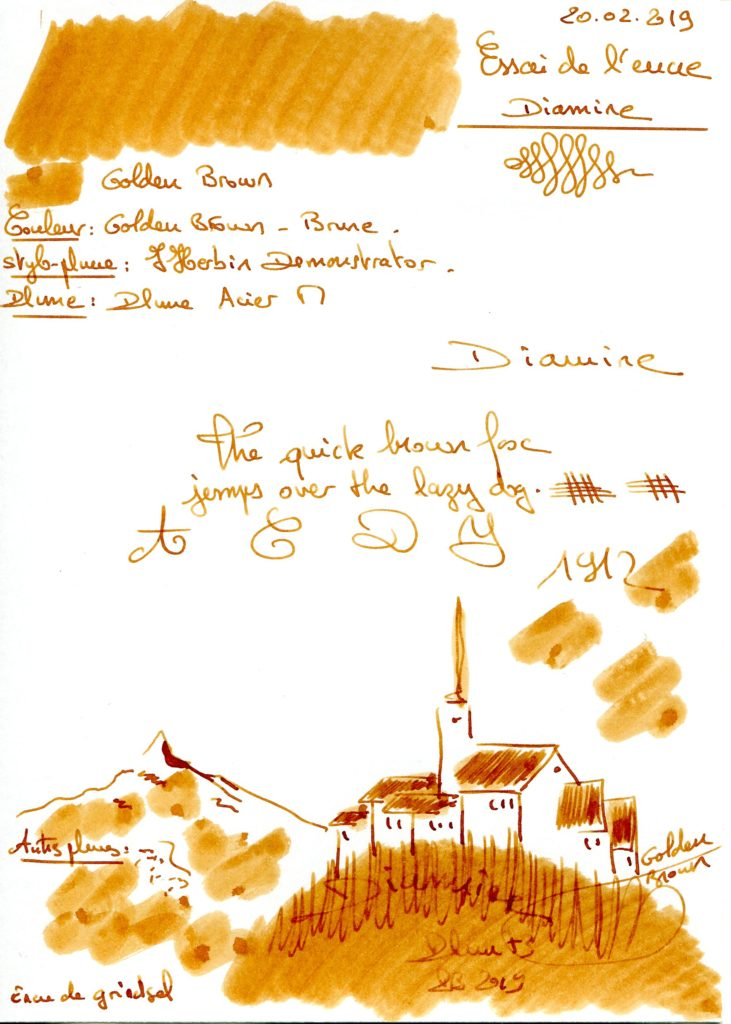 Golden Brown Ink Diamine