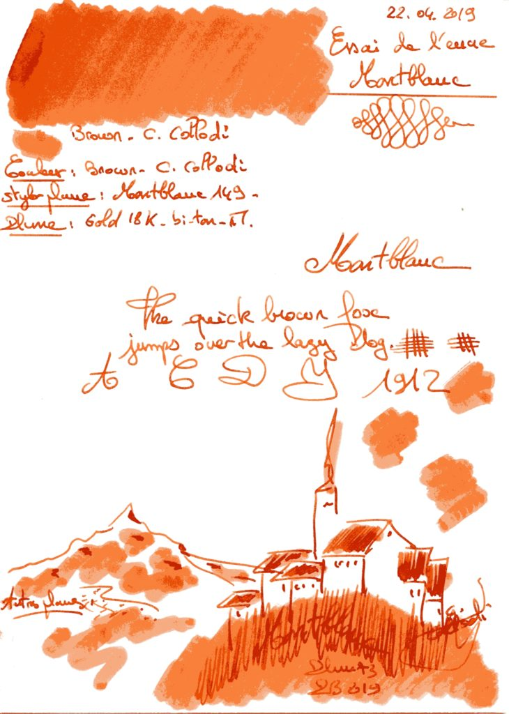 Brown C. Collodi Ink Montblanc